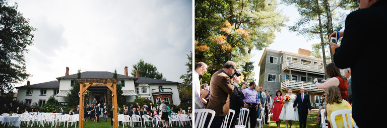 Left Outdoor Ceremony Setup At The Briars Resort In Orillia Right